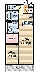 リヴェール文珠橋[3階]の間取り