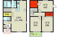 旭区赤川4丁目戸建て 1階3LDKの間取り