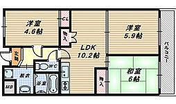 メゾン・ド・パラン[2階]の間取り