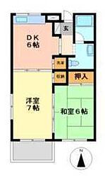 埼玉新都市交通 鉄道博物館(大成)駅 徒歩5分の賃貸マンション 1階2DKの間取り