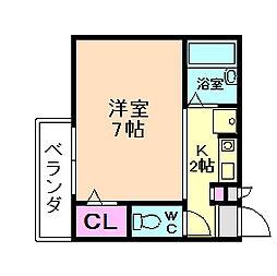カーサヴィエント[3階]の間取り