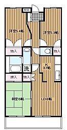 神奈川県横浜市旭区西川島町の賃貸マンションの間取り