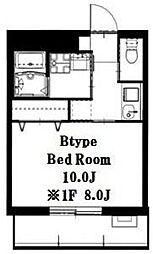 ノブレス横濱蒔田[203号室]の間取り