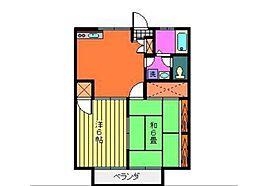 神奈川県川崎市多摩区菅5丁目の賃貸アパートの間取り