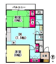 吉澤ビル1[201号室]の間取り