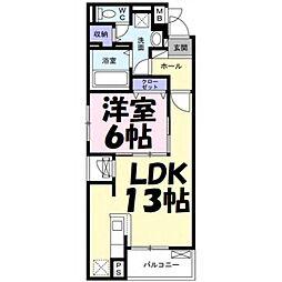 埼玉県さいたま市浦和区本太5丁目の賃貸マンションの間取り