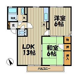 湘南サニーホームズC[2階]の間取り