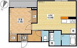 コンフォルトVI[3階]の間取り