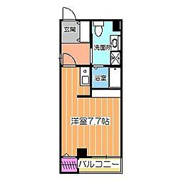 九月の空 2階ワンルームの間取り