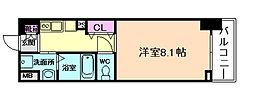 ディクス梅田東レジデンス[1階]の間取り