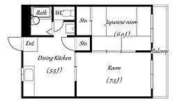 千葉県浦安市富士見2丁目の賃貸マンションの間取り