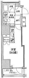アイルイムーブル日本橋 8階1Kの間取り