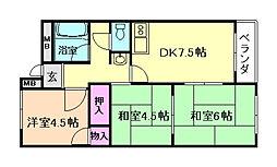 大豊マンション[3階]の間取り