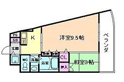 KHKコート西野田[8階]の間取り