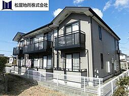 愛知県田原市保美町仲新古の賃貸アパートの外観
