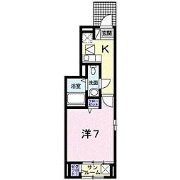 東京都八王子市堀之内2丁目の賃貸アパートの間取り