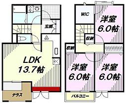 [テラスハウス] 東京都八王子市みなみ野4丁目 の賃貸【東京都 / 八王子市】の間取り
