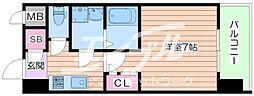 レジュールアッシュ京橋ファーストステージ[2階]の間取り