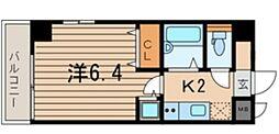 横浜翠葉BuildingI 8階1Kの間取り