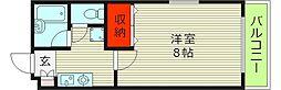 SUN HOUSE FUKUSHIMAIII 2階1Kの間取り