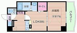 ノルデンタワー天神橋ANNEX[9階]の間取り