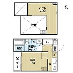 MARINE RESIDENCE SHIRAHATA[1階]の間取り