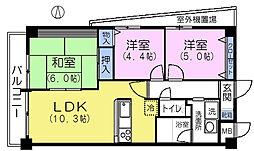 MARUNI BLDG[3階]の間取り