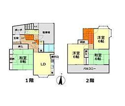 [一戸建] 東京都大田区南雪谷3丁目 の賃貸【東京都 / 大田区】の間取り