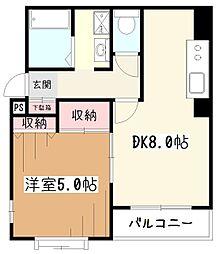 東京都東村山市野口町4丁目の賃貸マンションの間取り