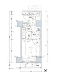 JR山手線 新橋駅 徒歩3分の賃貸マンション 3階1Kの間取り