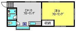 神奈川県横浜市瀬谷区二ツ橋町の賃貸アパートの間取り