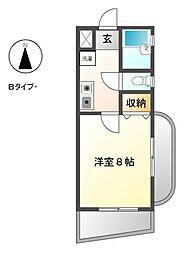 愛知県豊田市井上町5の賃貸マンションの間取り