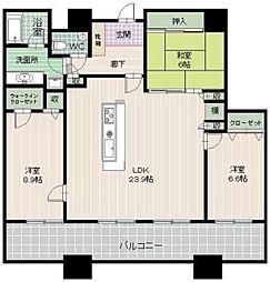 コアマンション大手門タワー[24階]の間取り
