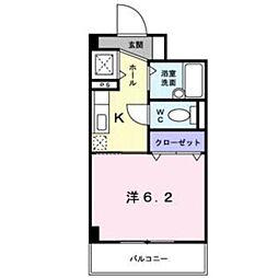 神奈川県厚木市愛甲2丁目の賃貸マンションの間取り
