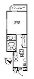 ファーマメント大宮大和田 2階1Kの間取り
