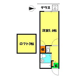 ミントハウス[105号室]の間取り