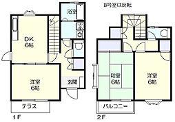 [テラスハウス] 神奈川県横浜市青葉区あかね台1丁目 の賃貸【/】の間取り
