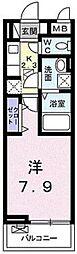 東武東上線 志木駅 徒歩15分の賃貸アパート 3階1Kの間取り