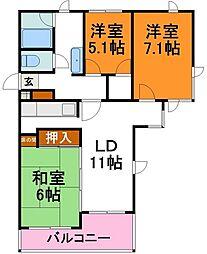 メゾンプルミエ 3階3LDKの間取り