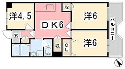 コーポラス今宿[7階]の間取り