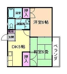 大阪府豊中市庄内西町4丁目の賃貸アパートの間取り