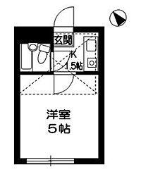 東京都練馬区旭町2の賃貸アパートの間取り