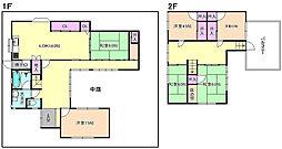 [一戸建] 大阪府枚方市西禁野2丁目 の賃貸【/】の間取り
