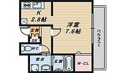 大阪府和泉市葛の葉町2丁目の賃貸アパートの間取り