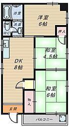 信州マンション[3階]の間取り