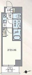 東京メトロ丸ノ内線 本郷三丁目駅 徒歩7分の賃貸マンション 4階1Kの間取り
