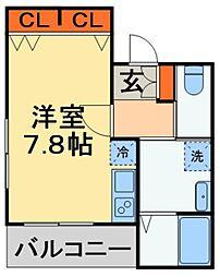JR外房線 本千葉駅 徒歩8分の賃貸アパート 1階ワンルームの間取り