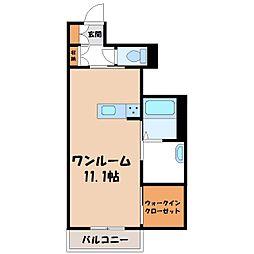 栃木県宇都宮市峰2の賃貸アパートの間取り