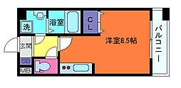 ラウル六甲道[7階]の間取り