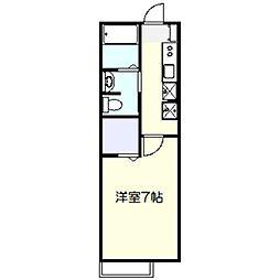 フラッツァ[2階]の間取り